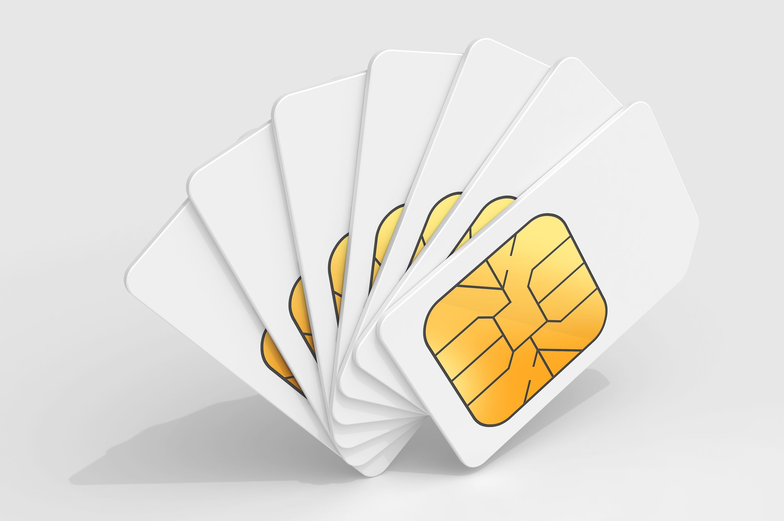Sim cards - blank white