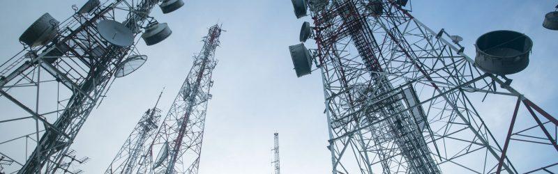 Large telecoms masts